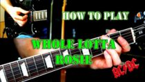 How to play Whole Lotta Rosie by AC/DC – Guitar Lesson