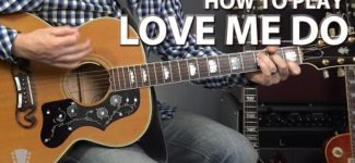 How to Play Love Me Do by The Beatles – Guitar Lesson