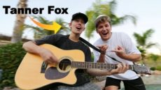 Teaching Tanner Fox how to Play Guitar